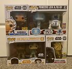Funko Pop! Star Wars Lot of Exclusives - Ashoka, Darth Vader, Han, Leia, R2-D2+