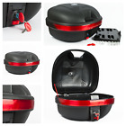 25L Universal Key Lock Motorcycle Top Box Helmet Storage Large Scooters  Mopeds