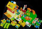 VINTAGE FISHER PRICE LITTLE PEOPLE SCHOOL HOUSE PLAYGROUND Fire Truck HUGE LOT