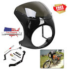 Gloss Black Headlight Fairing Screen Windshield Fit for Universal Motorcycle 7''
