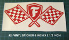 Vintage Style Firestone Tire Vinyl Decal Sticker - Racing - Nascar - Drag - Scca