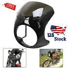 7'' Headlight Fairing Windshield Windscreen For Retro Harley Cafe Racer Chopper