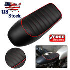 Universal Motorcycle Hump Custom Vintage Cafe Racer Seat Saddle Black For Honda