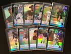 2003 Bowman Chrome Refractors Lot 11 All Different 1st Year Card Prospects