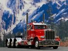 1 64 DCP RED PETERBILT 379 TRI AXLE DAY CAB