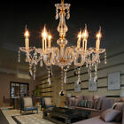 Luxurious Chandelier E12 Pendant Lamp Crystal Glass Ceiling Light Gold 6 Arms