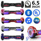 65 Electric Hoverboard Bluetooth Speaker LED Self Balancing Scooter UL NO Bag