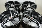 4 New DDR Talon 18x8 5x1143 35mm Black Machined 18 Wheels Rims