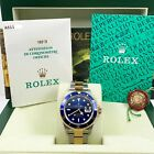Rolex 16613 Submariner Two Tone Blue Bezel Dial Stainless Steel Box Papers