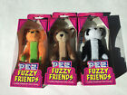 PEZ DAKIN Fuzzy Friends Plush Animal Candy Dispenser 2000s NIB