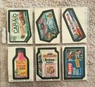1974 Wacky Packages Series 10 Lot of 6 Stickers