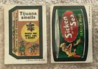 1974 Wacky Packages Series 5 Lot of 2 Stickers - Sicken of the Sea