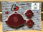 Kawasaki KLX110 DRZ 110 Billet Engine Covers RED Cam & Tappet TB Parts TBW1442