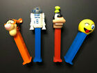 Lot of 4 Pez Dispensers - Goofy - Tigger - R2D2- Wink Emoji  Made in...see below