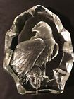 Mats Jonasson Sweden Signature Collection Clear Crystal Signed Eagle 3384