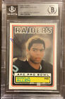 1983 Topps Marcus Allen Rookie Signed. Raiders auto. Autograph Card BGS NM-MT+