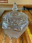 Anchor Hocking Wexford Jar Canisters Lidded Diamond Pattern
