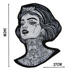 Tattoo Lady Large Iron On Patch Quality Back Patches Badge 34 cm x 27 cm P572