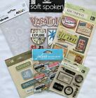 Travel Vacation Themed Scrapbook Stickers  Embellishments Lot of 6 Jolees KCo