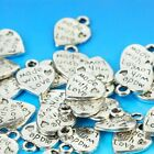 20pcs 12x10mm Tools with Love Heart Shaped DIY Charms Mud Horse Charms Antique