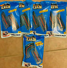 Hot Wheels City Track Pack Lot 5 packs 9 Straight Tracks  1 Curved Track