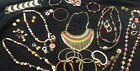 Vintage To Mod Jewlery Lot All Wearable Necklaces Bracelets Earrings Over 25 Pcs