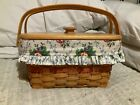 LONGABERGER SEWING BASKET with liner and inserts