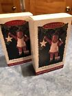 Two Hallmark Ornaments - Christy - All God's Children 1996 By Martha Holcombe