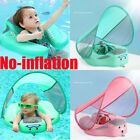 US Baby Swimming Ring Non inflatable Float Boat Pool Floats Sunshade Canopy Saft