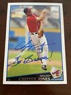 2019 Topps Archives Chipper Jones Auto Autograph 1 1 On Card 2009 Braves