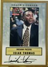 ISIAH THOMAS 2000-01 Fleer Tradition Glossy Coach AUTO Autograph Pacers Pistons