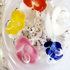Joe St Clair Controlled Bubble Trumpet Flower Art Glass Ashtray Paperweight VTG