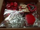Lot of Christmas Valentines Day Decorative Heart Ornaments  Garlands