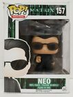 Funko Pop! Movies The Matrix Neo #157 + Protector Vaulted Retired **Damaged**