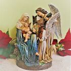 Mary Nativity Statue 65 inch Song of the Angels Violin Baby Jesus Outdoor Resin