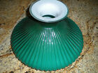 EMERALD GREEN RIBBED CASED GLASS 10 INCH SHADE NEW IN THE BOX