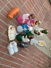 Vintage 11Piece Blow Mold Nativity Set Empire Outdoor Lighted Made In USA