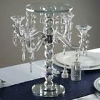 15 tall Clear Glass Crystal Candelabra Votive Candle Holder Party Decorations