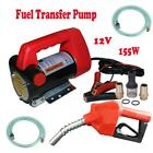 New 12V 10GPM Electric Diesel Oil Fuel Transfer Extractor Pump w Nozzle  Hose
