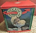 Vintage Hallmark Christmas Stocking Hanger SLEEPING BEAR 1988