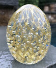 MURANO Glass  Gold VENETIAN ART EGG PAPERWEIGHT Purchased in Venice 35 ITALY