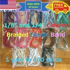 1 8 Inch 1 4 Inch Colored Flat Braided Elastic Band Cord for DIY Face Masks