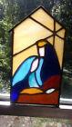 Stained glass Nativity scene handmade New