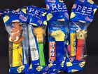 PEZ RETIRED ICE AGE FOOTED SCRAT, DIEGO, SID & MANNY IN FACTORY SEALED PACKAGES