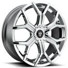 4 22 Dub Wheels Royalty S207 Chrome RimsB42