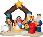 CHRISTMAS 65 FT NATIVITY SCENE JESUS 3 WISEMEN AIRBLOWN INFLATABLE YARD GEMMY