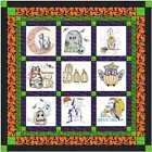 Quilt Kit Halloween Finished Embroidery Blocks Ready To Sew