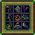 Quilt Kit Halloween Shadows with 9 Finished Embroidery Blocks