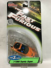 164 Racing Champions Fast  Furious 1995 Toyota Orange w Green