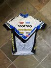 Vintage Volvo Cannondale Bicycling Jersey Mens Sz M Made In USA Rare White Promo